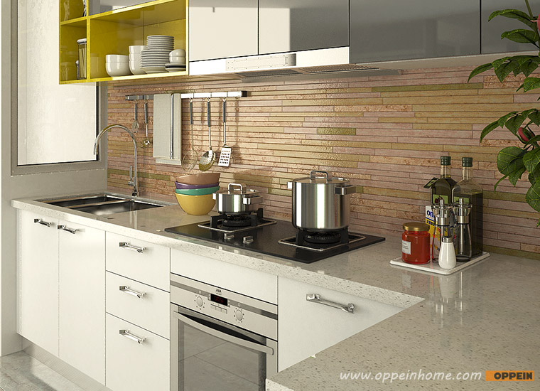 Oppein kitchen in africa op15 a06 modern white and gray for Perfect kitchen description