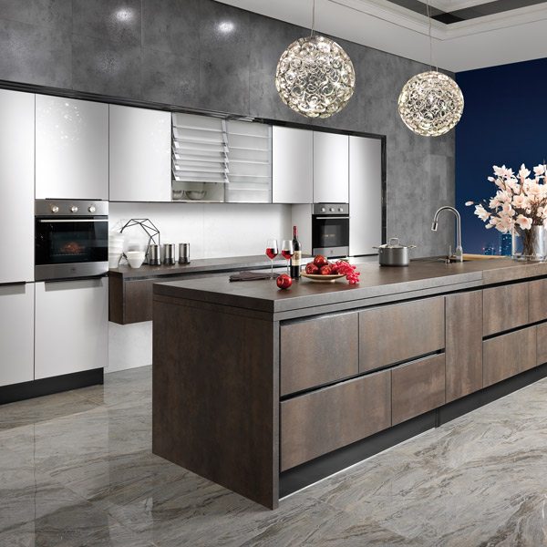 Oppein kitchen cabinet wardrobe bathroom in africa for Acrylic kitchen cabinets india