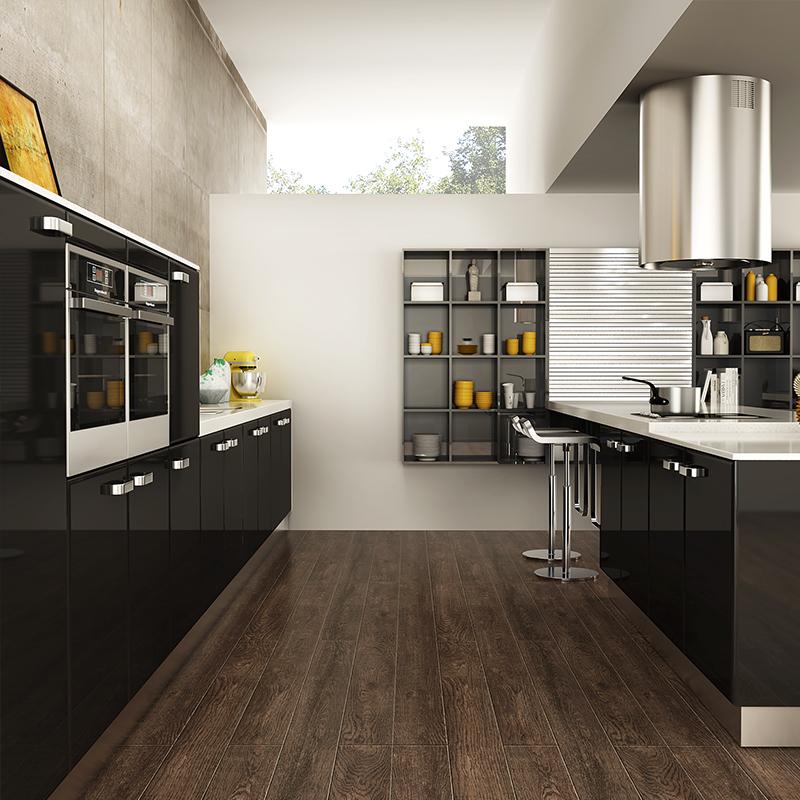 OPPEIN Kitchen In Africa » OP15-L15: Contemporary Black