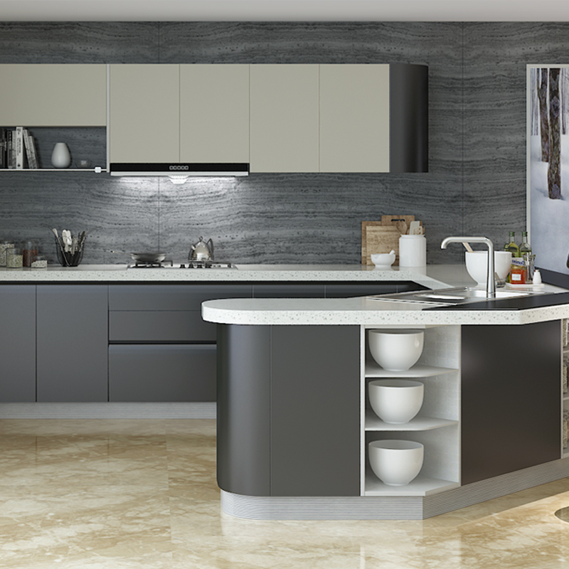 OP15 L10: Contemporary High Gloss Lacquer Kitchen Cabinet