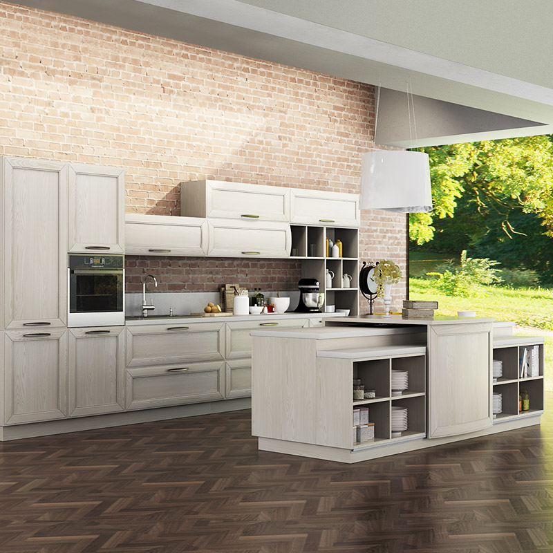 Kenya Fashionable Customized Melamine And Hpl Kitchen: OPPEIN Kitchen In Africa » Transitional Natural Ash Solid