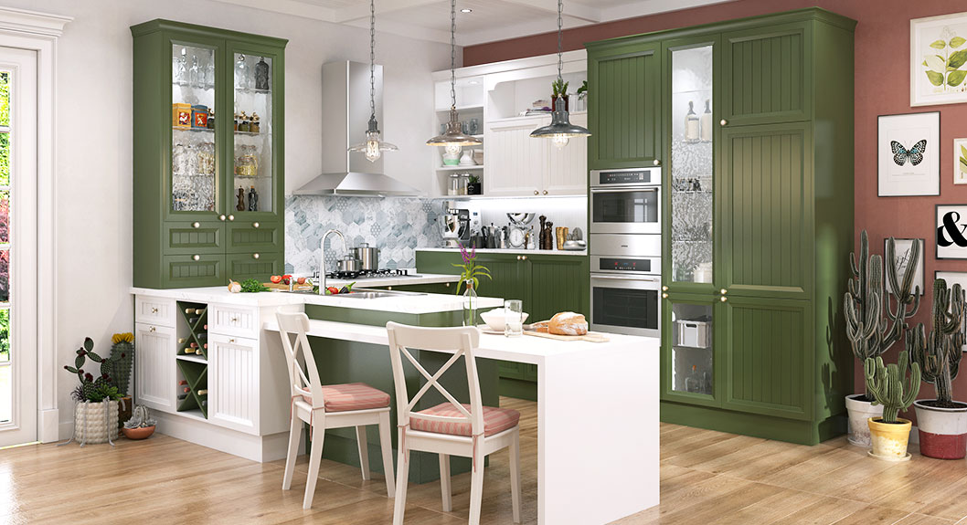 Green-and-White-Thermofoil-U-Shaped-Kitchen-PLCC18076 (2)