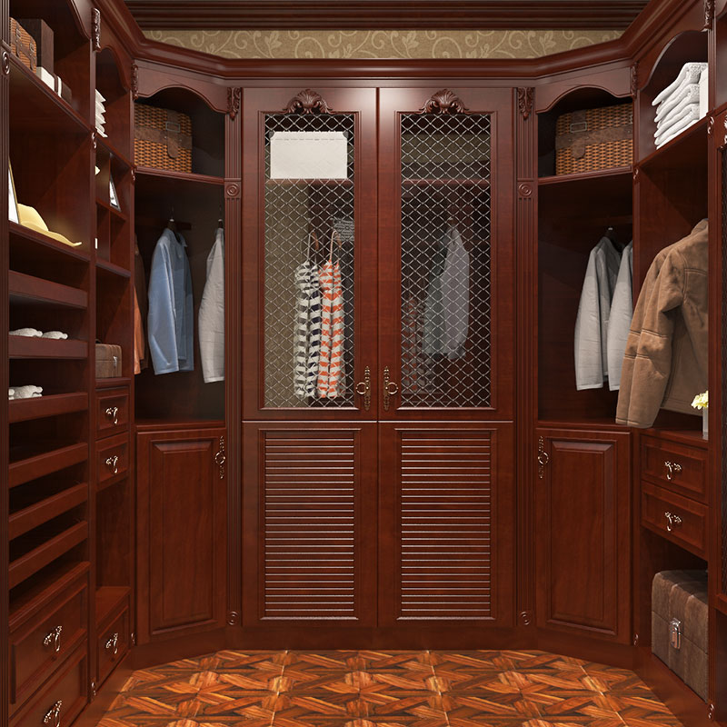 Gorgeous Cherry Wood Walk In Closet YG16 S01