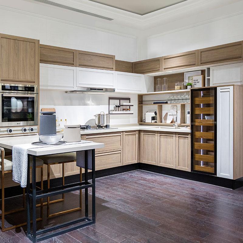 Modern Wood Grain Kitchen: OPPEIN Kitchen In Africa » White & Wood Grain Thermofoil U