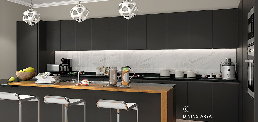 Oppein Kitchen In Africa 187 Modern Stylish Black Matte