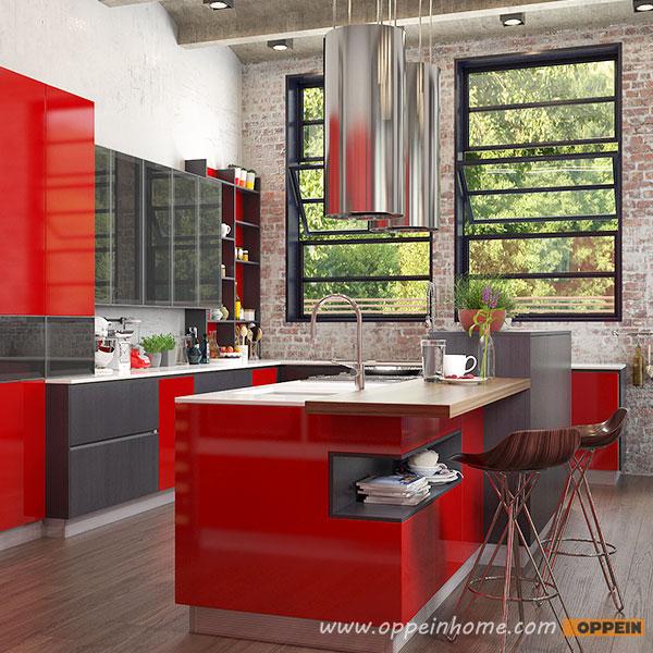 Modern Industrial Style Kitchen: OPPEIN Kitchen In Africa » Modern Red Industrial Style