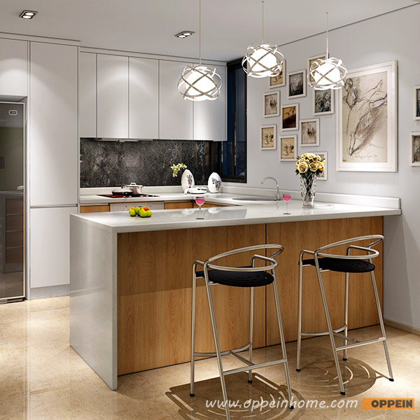Lacquer Kitchen Cabinets: OPPEIN Kitchen In Africa » Modern White Matte Lacquer And