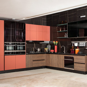 L-Shape-Modern-Red-PVC-Kitchen-PLCC19112