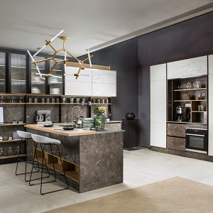 UV-Lacquer-Stone-Effect-Kitchen-With-Bar-PLCC19099