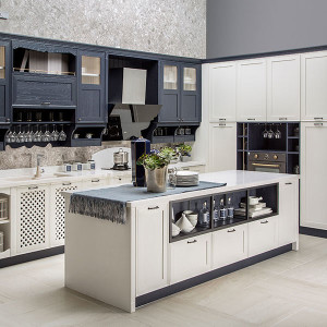 Blue-Matt-Shaker-Kitchen-with-Thermofoil-Design-PLCC19101