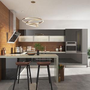 Modern-Fashion-Black-Lacquer-Shaker-Kitchen-OP19-L07
