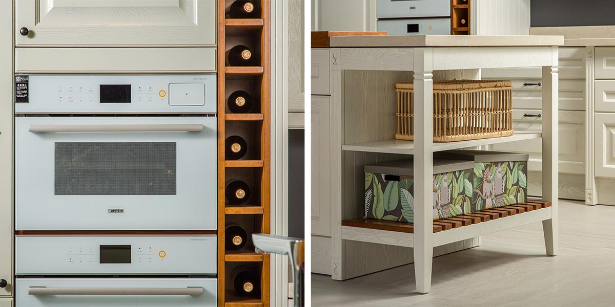 White-L-Shape-Solid-Wood-Kitchen-Cabinet-With-Island-PLCC19102 (5)