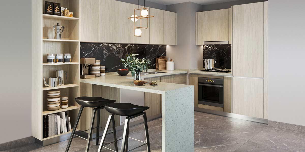 Open-White-Wood-Grain-Melamine-Kitchen-Cabinet-OP19-M02 (2)