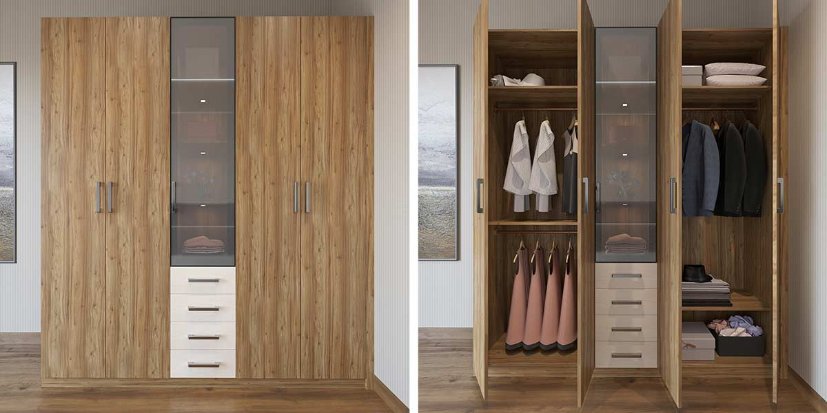 Wood-Grain-Double-door-Hinged-Wardrobe-YG19-M01 (3)