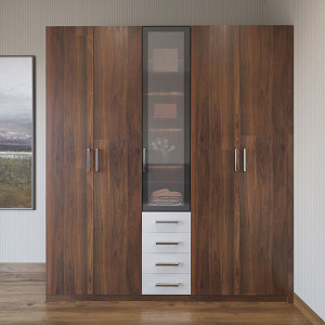 Wood-Grain-Double-door-Hinged-Wardrobe-YG19-M01