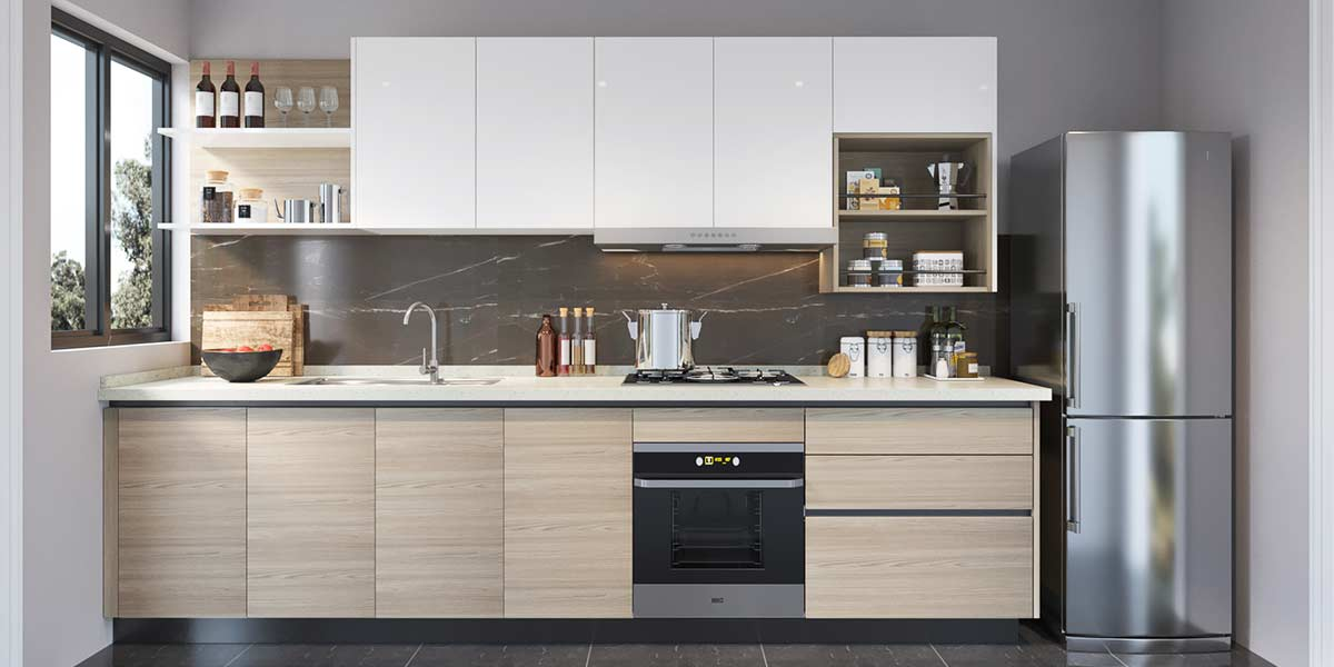 I-Shape-kitchen-Cabinet-with-Lacquer&Melamine-OP19-L08 (4)