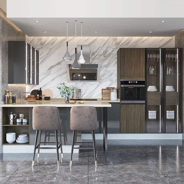 U-Shape-Melamine-Dark-Color-Kitchen-Cabinet-OP19-M04