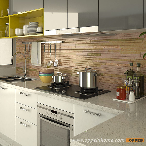 Oppein Kitchen In Africa 187 Op15 A06 Modern White And Gray