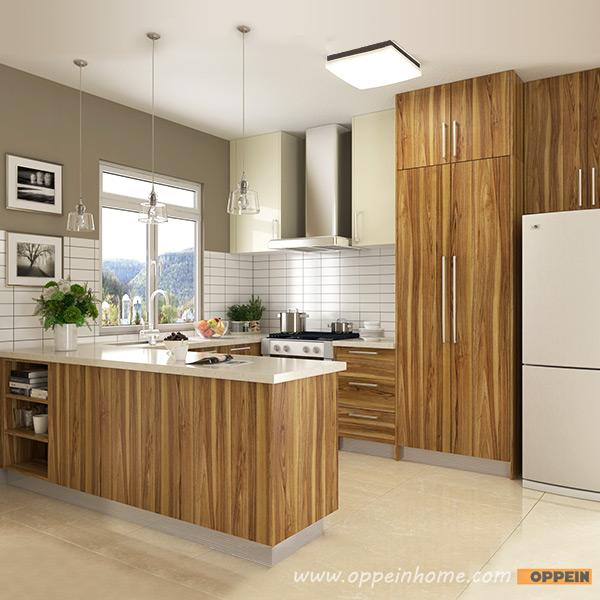 Modern Wood Grain Kitchen: OPPEIN Kitchen In Africa » OP16-M01: Modern Wood Grain