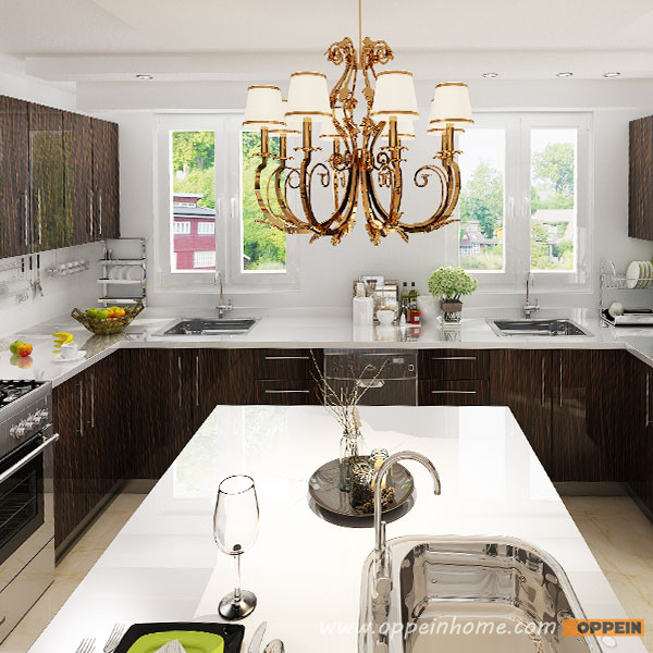 Kitchen Set Hpl Glossy: OPPEIN Kitchen In Africa » OP15-HPL07: Modern High Gloss
