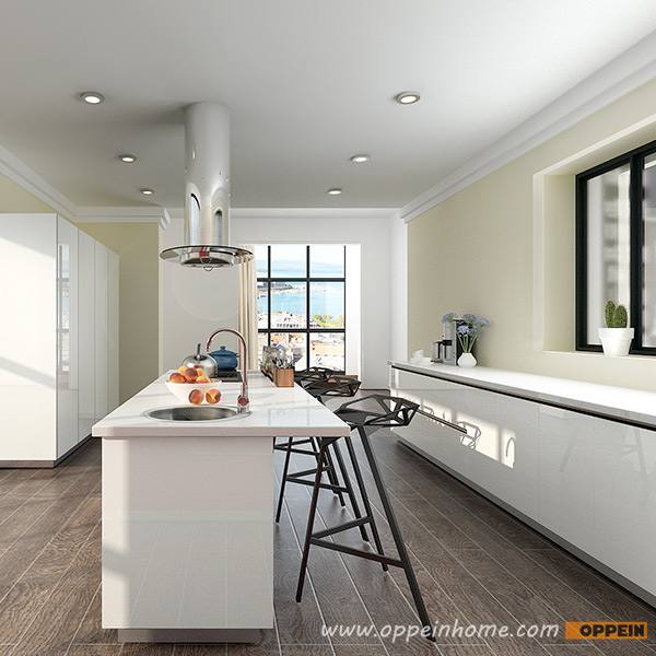 Red High Gloss Kitchen: OPPEIN Kitchen In Africa » OP16-L13: Modern White And Red