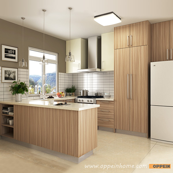 Oppein Kitchen In Africa Op16 M01 Modern Wood Grain Matte