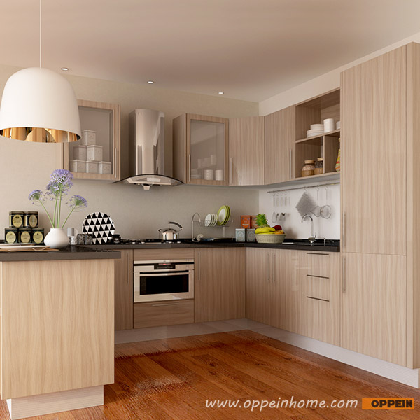 Kitchen Design Malaysia Price: OPPEIN Kitchen In Africa » OP15-M11: Modern Wood Grain