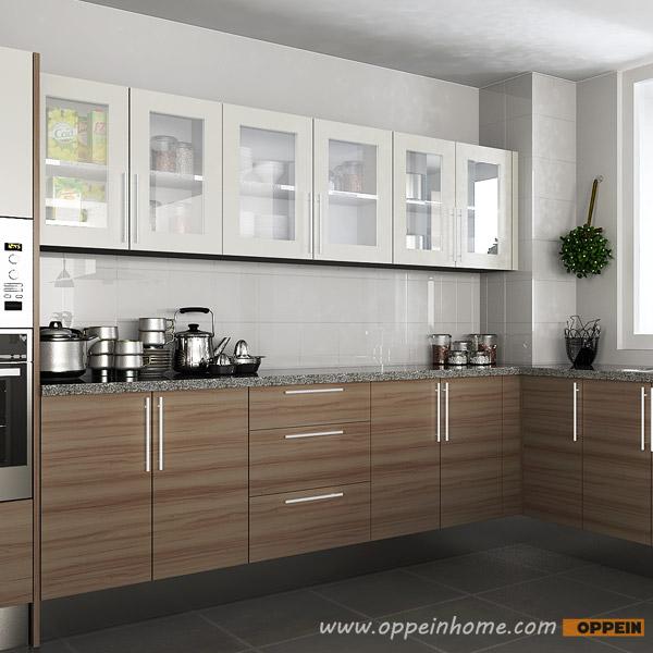 Design Kitchen Cabinet Online: OPPEIN Kitchen In Africa » OP15-M04: Contemporary Melamine
