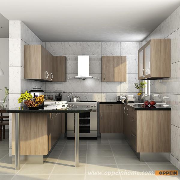 OPPEIN Kitchen In Africa » OP15-M03: Contemporary Melamine Kitchen Cabinet