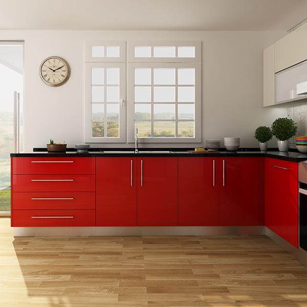Design Kitchen Cabinet Online: OPPEIN Kitchen In Africa » OP14-HPL01: Fashionable HPL
