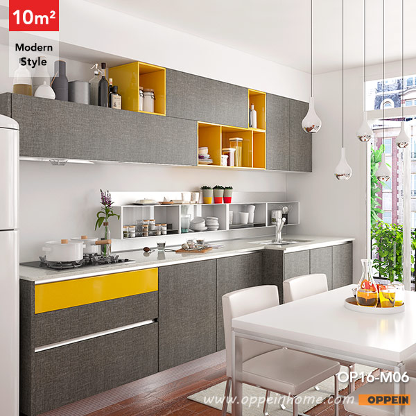 OPPEIN Kitchen in africa OP16 M06 10 Square Meters Straight Line