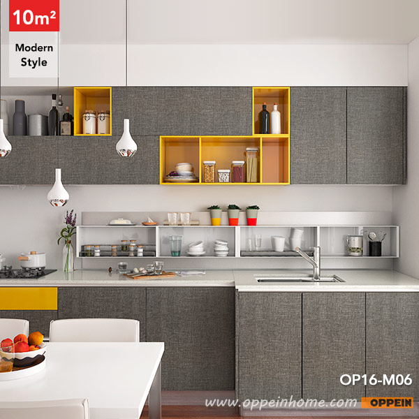 Small Straight Kitchen Design. OP16 M06  10 Square Meters Straight Line Modern Style Kitchen Design OPPEIN in africa