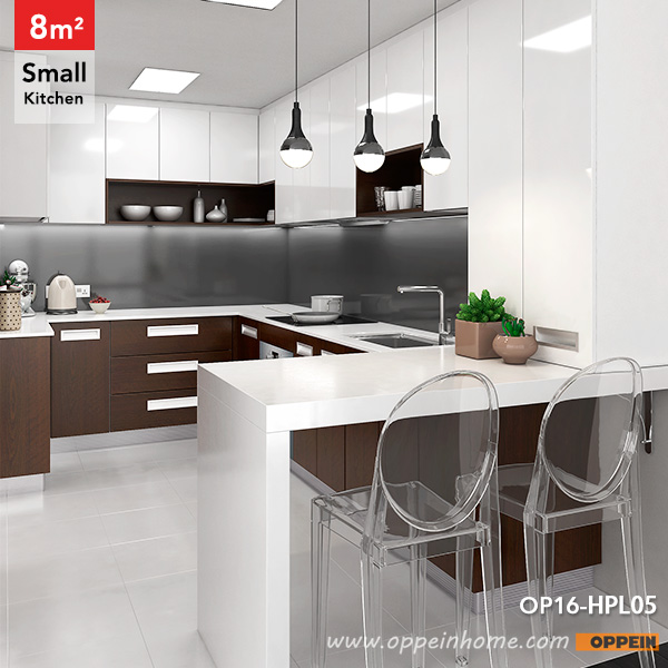 OPPEIN Kitchen In Africa » OP16-HPL05: 8 Square Meters U