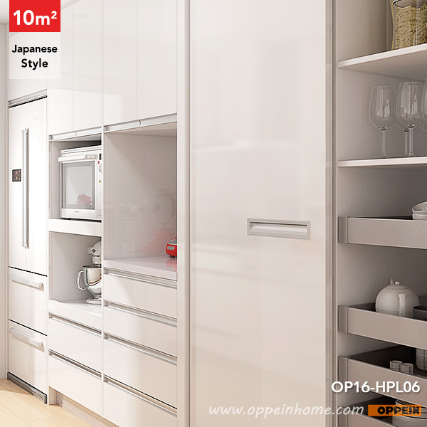 Japan Small Kitchen Design: OPPEIN Kitchen In Africa » OP16-HPL06: 10 Square Meters