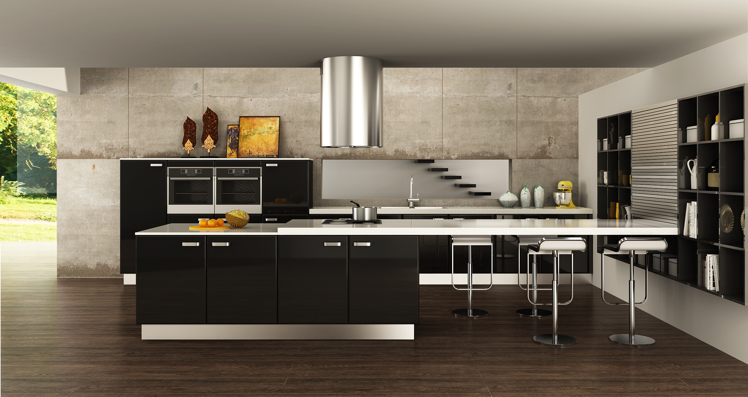 Oppein Kitchen In Africa 187 Op15 L15 Contemporary Black