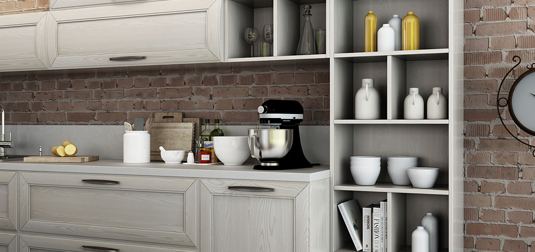 OPPEIN Kitchen in africa » Transitional Natural Ash Solid ...
