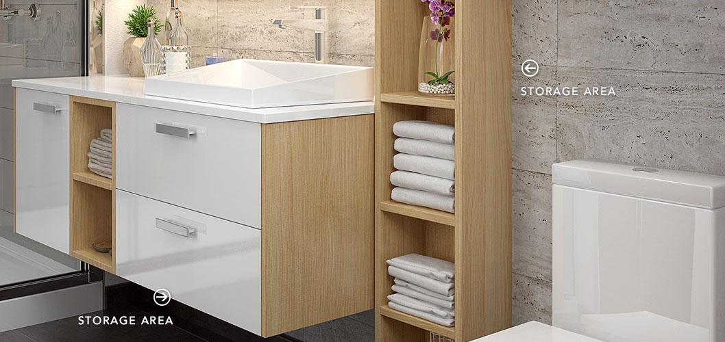 Oppein Kitchen In Africa White And Wood Grain Bathroom Mirrored