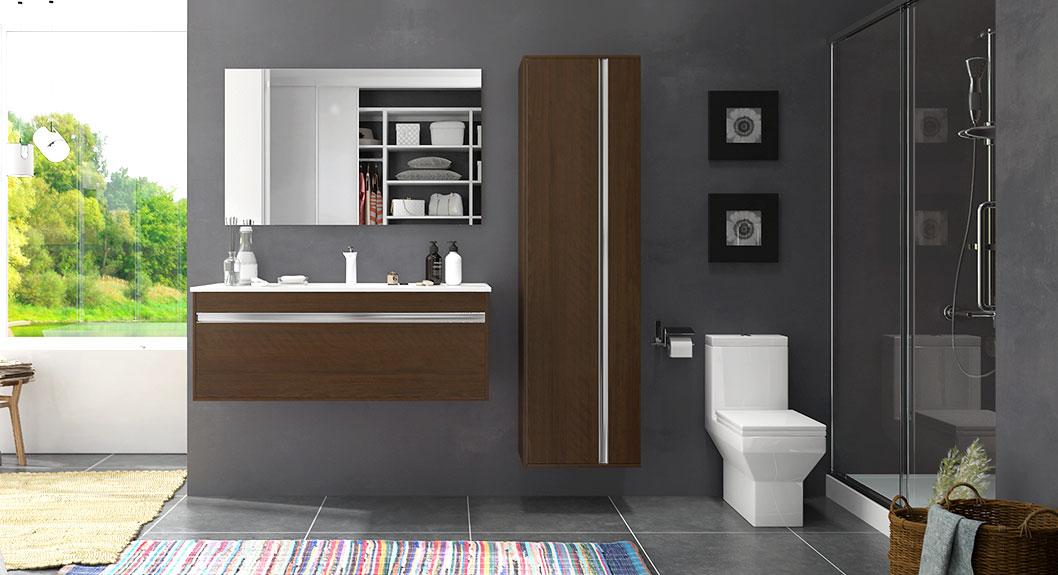 Melamine Wall Mounted Bathroom Cabinet