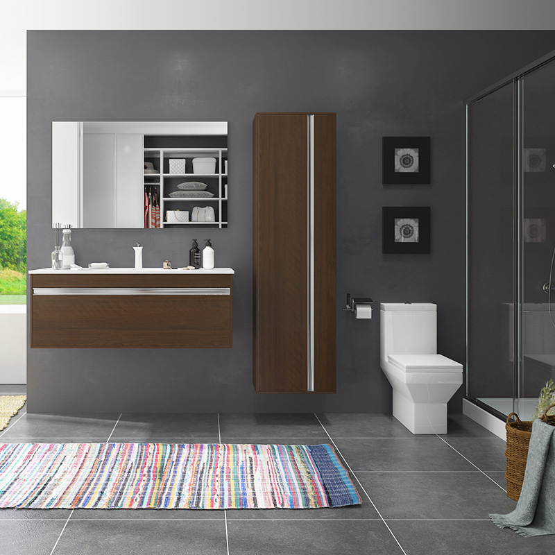 Oppein Kitchen In Africa Melamine Wall Mounted Bathroom Cabinet