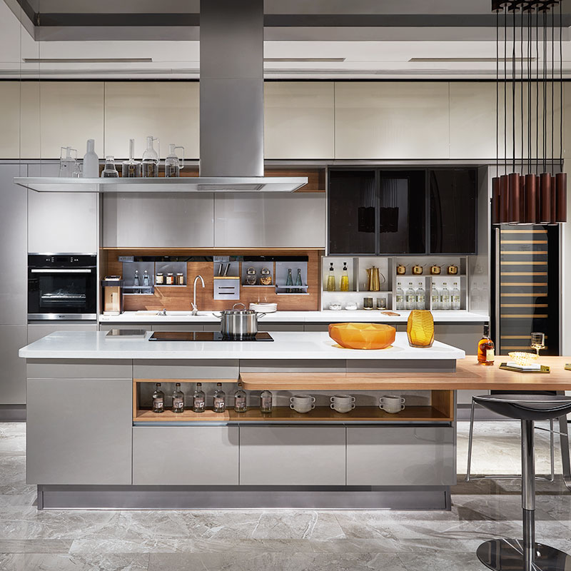 Kitchen Cabinet Lines: OPPEIN Kitchen In Africa » Silver Flashing Lacquer