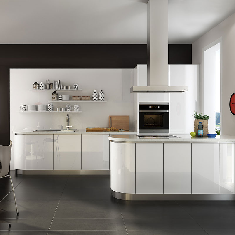 Oppein Kitchen In Africa Modern Small Galley Kitchen In White Color Op16 A03