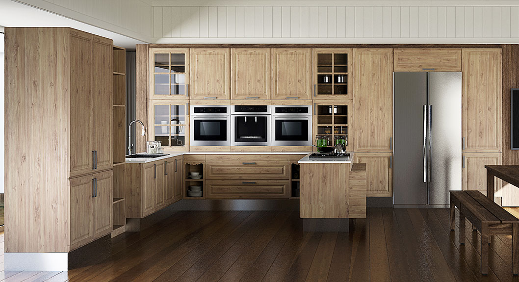 Thermofoil-Kitchen-Cabinet-in-Rustic-Style-OP15-PP08 (2)