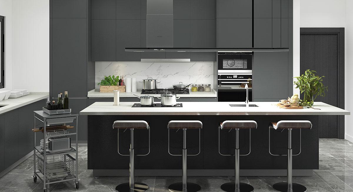 OPPEIN Kitchen in africa » Modern Black Lacquer Kitchen ...