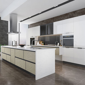 High-Gloss-White-Lacquer-Kitchen-With-Island-OP19-L06