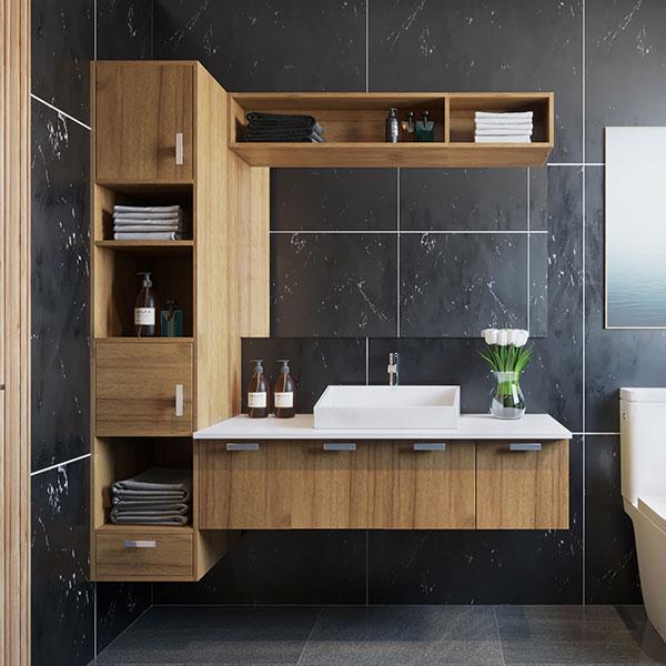 Oppein Kitchen In Africa 2019 Functioanal Wood Grain Bathroom Cabinet Plwy19071a