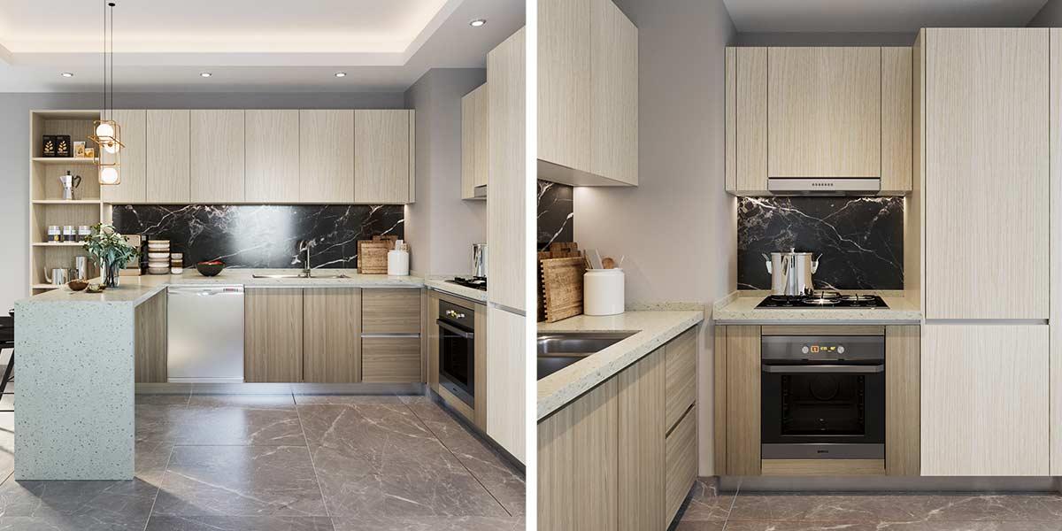 Open-White-Wood-Grain-Melamine-Kitchen-Cabinet-OP19-M02 (3)