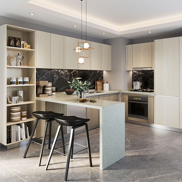 Open-White-Wood-Grain-Melamine-Kitchen-Cabinet-OP19-M02
