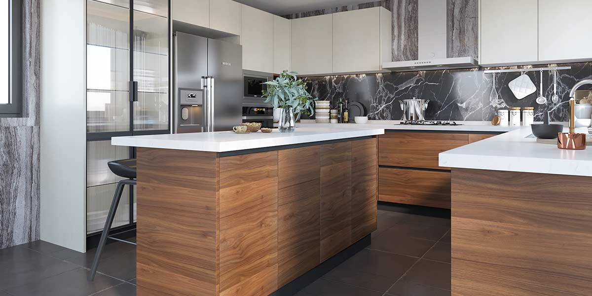 Large-Wood-Grain&White-Melamine-Kitchen-With-Island-OP19-M03 (3)
