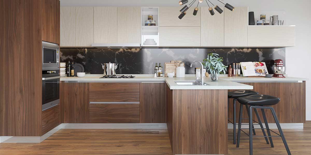 Irregular-Shape-Melamine-Kitchen-With-Island-OP19-M06(2)