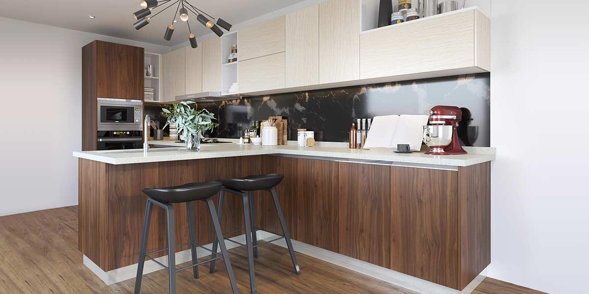 Irregular-Shape-Melamine-Kitchen-With-Island-OP19-M06(3)